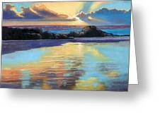 Sunset At Havika Beach Greeting Card by Janet King