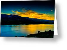 Sunset at Horsetooth Reservoir Greeting Card by Harry Strharsky