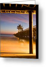 Sunset At San Clemente Greeting Card by Cliff Wassmann