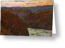 Sunset Greeting Card by Claude Monet