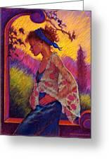 Sunset Greeting Card by Ellen Dreibelbis