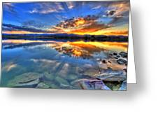Sunset Explosion Greeting Card by Scott Mahon