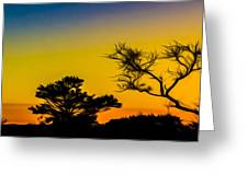 Sunset Fantasy Greeting Card by Debra and Dave Vanderlaan