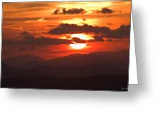 Sunset From The Blue Ridge Parkway Greeting Card by John Harmon