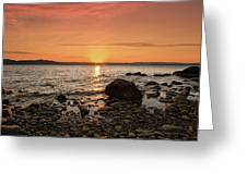 Sunset Glow Greeting Card by Alexander Mendoza