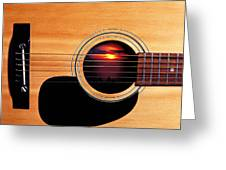 Sunset In Guitar Greeting Card by Garry Gay