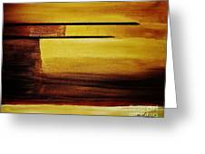 Sunset In The Desert Greeting Card by Marsha Heiken