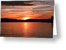 Sunset-lake Waukewan 1 Greeting Card by Michael Mooney