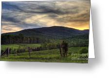 Sunset On Appleberry Mountain 2 Greeting Card by Pete Hellmann