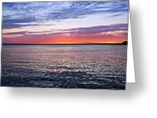 Sunset On Barnegat Bay I - Jersey Shore Greeting Card by Angie Tirado