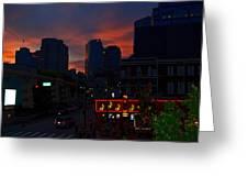 Sunset Over Nashville Greeting Card by Susanne Van Hulst