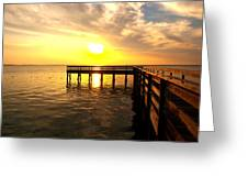 Sunset Pier Destin Greeting Card by James Granberry