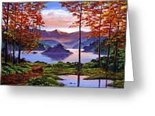 Sunset Reverie Greeting Card by David Lloyd Glover
