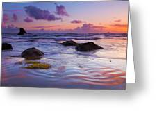 Sunset Ripples Greeting Card by Mike  Dawson
