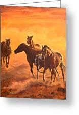 Sunset Run Greeting Card by Jana Goode