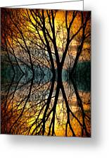Sunset Tree Silhouette Abstract 3 Greeting Card by James BO  Insogna