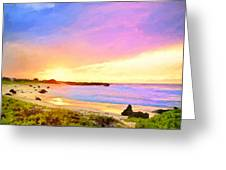 Sunset Walk Greeting Card by Dominic Piperata