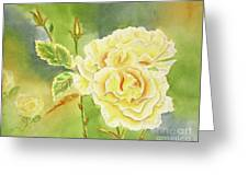 Sunshine And Yellow Roses Greeting Card by Kathryn Duncan