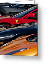 Supercars Ferrari Emblem Greeting Card by Jill Reger