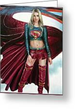 Supergirl Greeting Card by Brendon Larimore