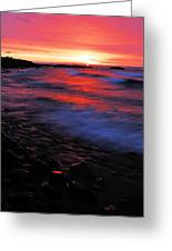 Superior Sunrise Greeting Card by Larry Ricker