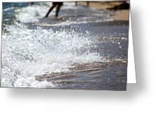Surf Crashing Greeting Card by Lisa Knechtel
