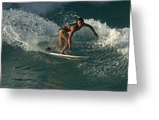 Surfer Girl Greeting Card by Brad Scott