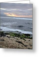 Surfing Sunset Greeting Card by Andy Smy