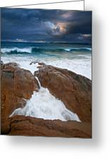 Surfs Up Greeting Card by Mike  Dawson