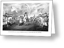 Surrender Of Lord Cornwallis At Yorktown Greeting Card by War Is Hell Store