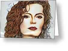 Susan Sarandon Greeting Card by Joseph Lawrence Vasile