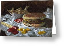 Suzy-q Double Cheeseburger Greeting Card by Timothy Jones