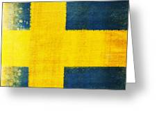 Swedish Flag Greeting Card by Setsiri Silapasuwanchai