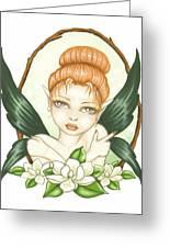 Sweet Magnolia Fae Greeting Card by Elaina  Wagner