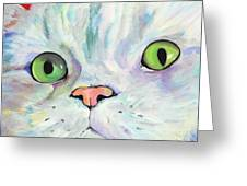 Sweet Puss Greeting Card by Pat Saunders-White