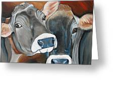 Swiss Misses Greeting Card by Laura Carey