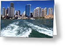 Sydney Circular Quay Greeting Card by Melanie Viola