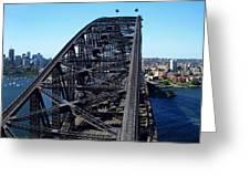 Sydney Harbour Bridge Greeting Card by Melanie Viola