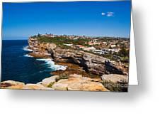 Sydney Sandstone Clifftop Greeting Card by John Buxton
