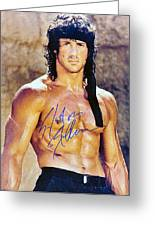 Sylvester Stallone Greeting Card by Studio Release