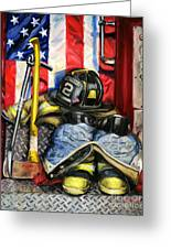 Symbols Of Heroism Greeting Card by Paul Walsh