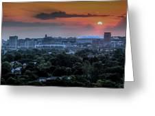 Syracuse Sunrise Greeting Card by Everet Regal