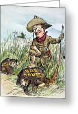 T. Roosevelt Cartoon, 1909 Greeting Card by Granger