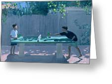 Table Tennis Greeting Card by Andrew Macara
