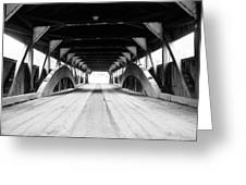 Taftsville Covered Bridge Greeting Card by Greg Fortier