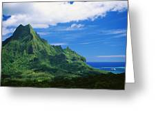Tahiti, Moorea Greeting Card by Vince Cavataio - Printscapes