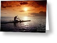 Tahiti, Papeete Greeting Card by Joe Carini - Printscapes