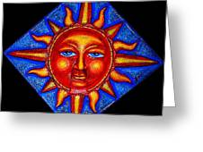 Talking Sun Greeting Card by Genevieve Esson