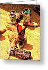 Tall Boots Greeting Card by Gus McCrea