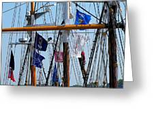 Tall Ship Series 15 Greeting Card by Scott Hovind